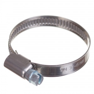 Stainless steel W4 worm hose clamp 30-45mm (200pcs./pkg.)