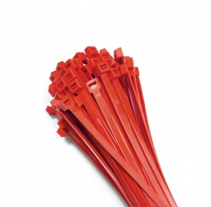 Cable ties 370x7,6mm RED (100 pcs.)