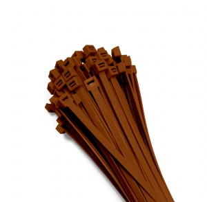 Cable ties 370x7,6mm BROWN (100 pcs.)