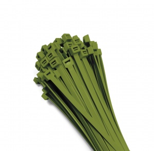 Cable ties 370x7,6mm GREEN (100 pcs.)