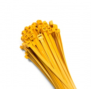 Cable ties 140x3,6mm YELLOW (100 pcs.)