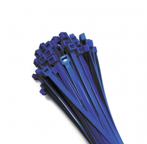 Cable ties 370x7,6mm BLUE (100 pcs.)
