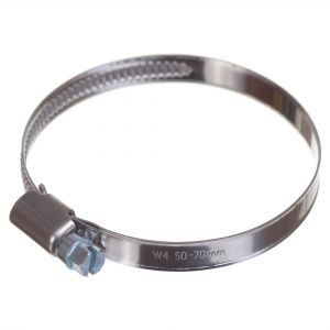 Stainless steel W4 worm hose clamp 50-70mm (200pcs./pkg.)