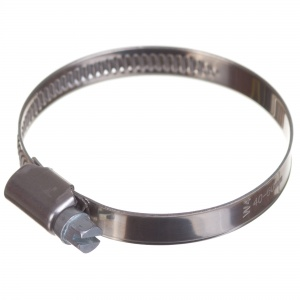 Stainless steel W4 worm hose clamp 40-60mm (200pcs./pkg.)