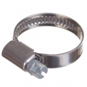Stainless steel W4 worm hose clamp 20-32mm (200pcs./pkg.)