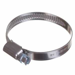 Stainless steel W4 worm hose clamp 32-50mm (200pcs./pkg.)