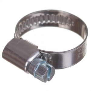 Stainless steel W4 worm hose clamp 16-25mm (200pcs./pkg.)