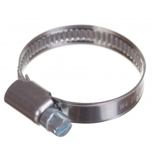 Stainless steel W4 worm hose clamp 25-40mm (200pcs./pkg.)