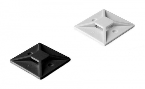 Cable ties mount base black or white