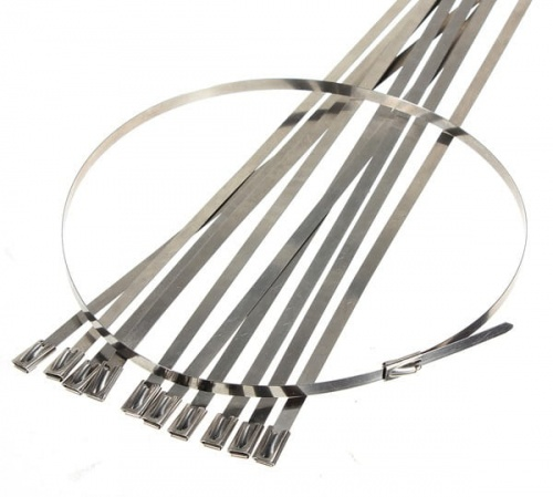 Stainless steel cable ties 130x4,5mm (100pcs.)